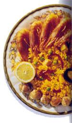 Spanisches Essen und Paella