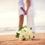 Brautpaar am Strand auf Mallorca