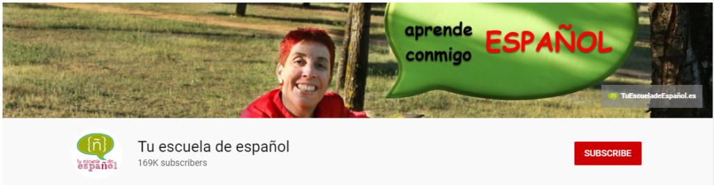 spanish youtube channel tu escuela de español